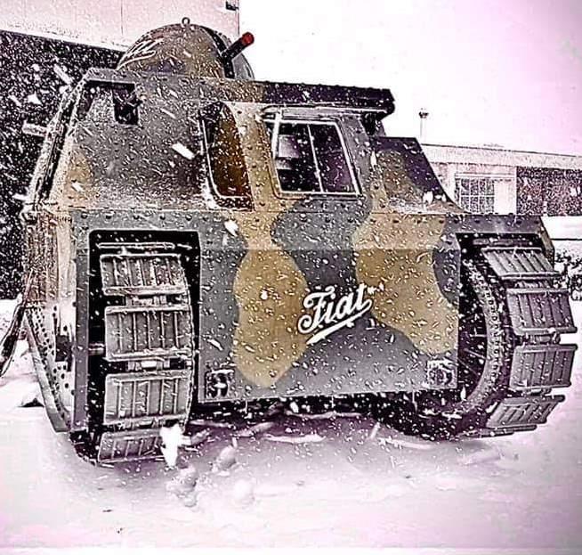 Il Fiat 2000 nel Museo delle Forze Armate